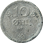 10 Øre - Haakon VII (WW2 German Occupation) -  reverse