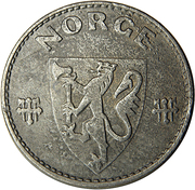 50 Øre - Haakon VII (WW2 German Occupation) -  obverse