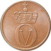 1 Øre - Olav V -  obverse