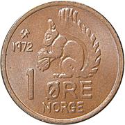 1 Øre - Olav V -  reverse