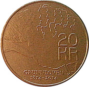 20 Kroner - Harald V (200th Anniversary of the Constitution) – reverse