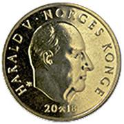 20 Kroner - Harald V (150th anniversary of DNT) -  obverse