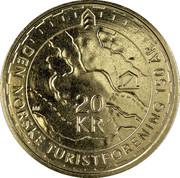 20 Kroner - Harald V (150th anniversary of DNT) -  reverse