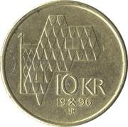 10 Kroner - Harald V -  reverse