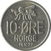 10 Øre - Olav V (large letters) -  reverse