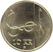 10 Kroner - Harald V (Henrik Wergeland) – reverse