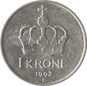 1 Krone - Harald V -  reverse