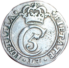 1 Mark - Christian V – obverse