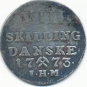 8 Skilling - Christian VII – reverse