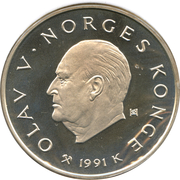 100 Kroner - Olav V (1994 Olympics - Speed Skating) -  obverse