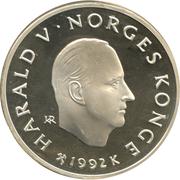 100 Kroner - Harald V (1994 Olympics -  Ski Jumping) -  obverse