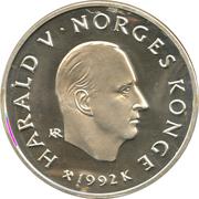 100 Kroner - Harald V (1994 Olympics -  Hockey) -  obverse