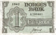 1 Krone (Government in Exile) – obverse