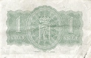 1 Krone (Government in Exile) – reverse