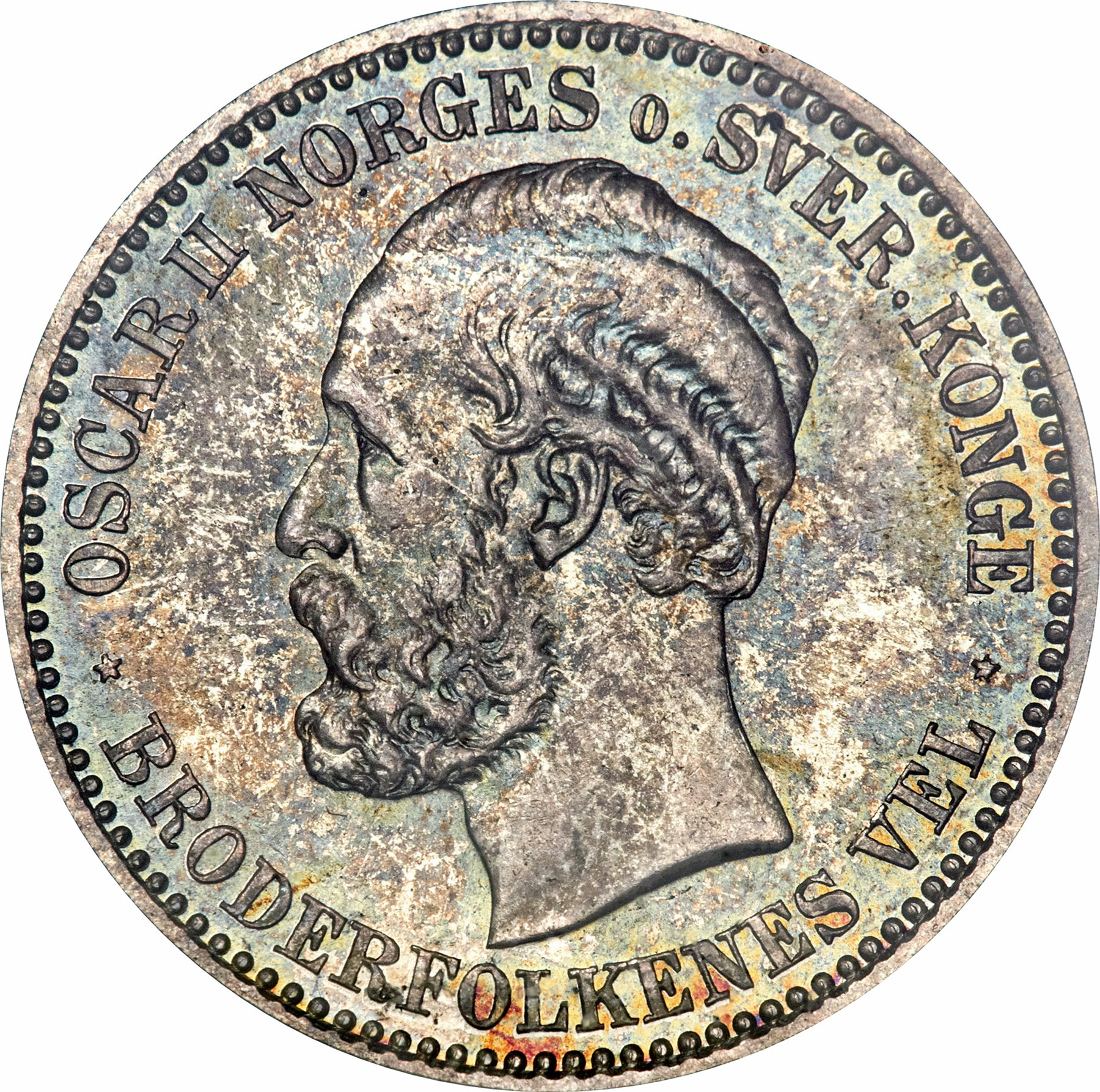 1 Krone - Oscar II - Norway - Numista