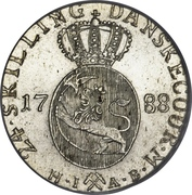 24 Skilling Danske - Christian VII – reverse