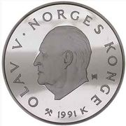 100 Kroner - Olav V (1994 Olympics -  Cross-Country Skiing) -  obverse