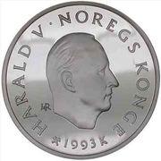 100 Kroner - Harald V (1994 Olympics -  Alpine Skiing) -  obverse