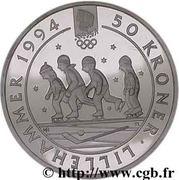 50 Kroner - Harald V (1994 Olympics in Lillehammer) -  reverse