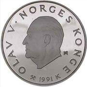 50 Kroner - Olav V (1994 Olympics in Lillehammer) -  obverse