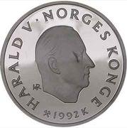50 Kroner - Harald V (1994 Olympics in Lillehammer) -  obverse