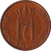 2 Øre - Haakon VII -  obverse