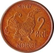 2 Øre - Olav V (large letters) -  reverse