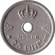 25 Øre - Haakon VII -  reverse