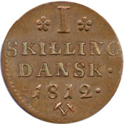 1 Skilling - Frederik VI – reverse
