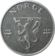 5 Øre - Haakon VII (WW2 German Occupation) -  obverse