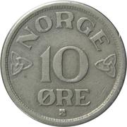 10 Øre - Haakon VII -  reverse