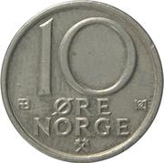 10 Øre - Olav V -  reverse