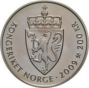 200 Kroner - Harald V (Knut Hamsun) – obverse