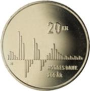 20 Kroner - Harald V (Norges Bank Bicentenary) – reverse