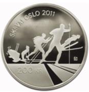 200 Kroner - Harald V (Skiing) – reverse