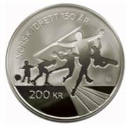 200 Kroner - Harald V (Confederation of Sports) – reverse