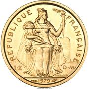 1 Franc (Piedfort gold) – obverse