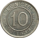 10 Centimes (Nickel Token) – obverse