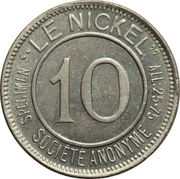 10 Centimes (Le Nickel) – obverse
