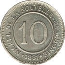 10 Centimes (Nickel Token) – reverse