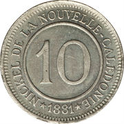 10 Centimes (Le Nickel) – reverse