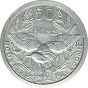50 Centimes (Piedfort Trial strike) – reverse