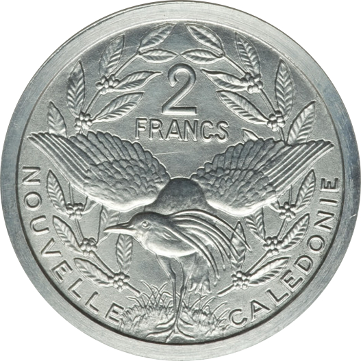 elf New Caledonia 50 Centimes 1949 Kagu Bird