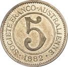 5 Francs (Nickel Token) – reverse