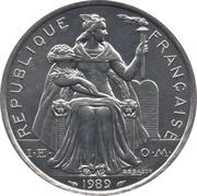 5 Francs (IEOM) – obverse