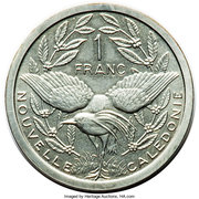 1 Franc (Piedfort silver) – reverse