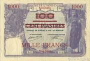 1000 Francs on 100 Piastres – obverse