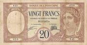 20 Francs Nouméa – obverse