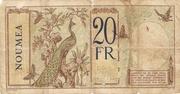 20 Francs Nouméa – reverse
