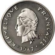 20 Francs (Piedfort nickel) – obverse